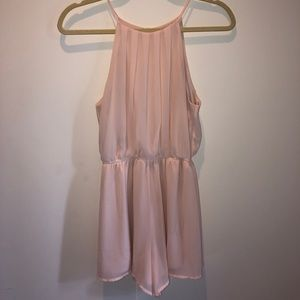 Baby pink romper (WORN ONCE)